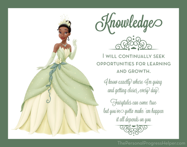 Young Women Value Disney Princess Posters | Knowledge: Tiana