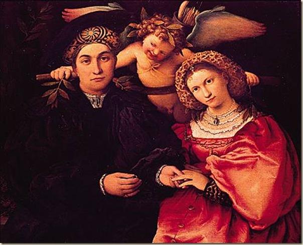 Lotto, Portrait de maître Marsilio et sa femme