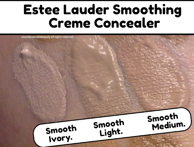 Estee Lauder Smoothing Creme Concealer. Review & Swatches of Shades Smooth Ivory, Smooth Light, Smooth Medium
