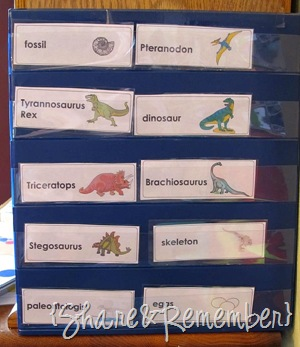 Learning About Dinosaurs dinosaur words