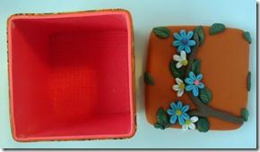 orange retro box lid off