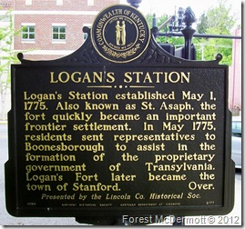 Logan's Station, Marker 2177 (Side 2) Stanford, KY (Click any photo to enlarge)