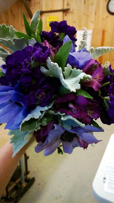 purple bouquet | Ideas in Bloom