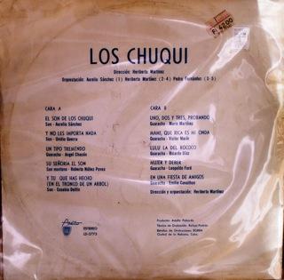Los Chuqui  Los Chuqui  LP Back