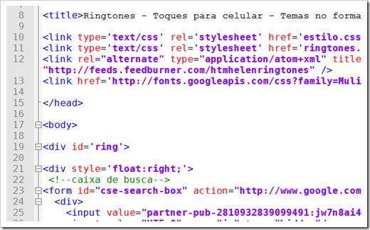 Código HTML