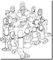 ultima cena dibujos colorear (3)