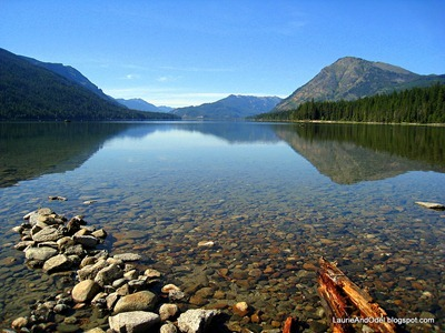 Lake Wenatchee at the state park of the same name.