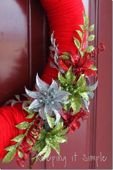 framed Christmas wreath (9)