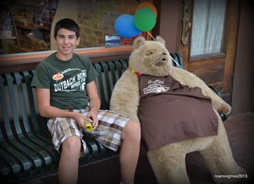 Bryce with his bear friend