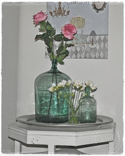 verftechnieken-buikfles-bloemen
