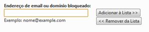 Adicionar email para bloquear - Hotmail