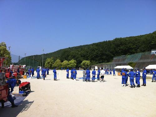こちらは瑞浪市釜戸町での教練会のようす