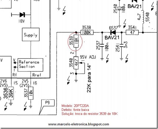 20PT220A defeito resolvido