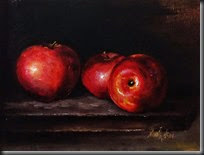 Three Red Apples 6x8