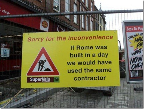roadworks