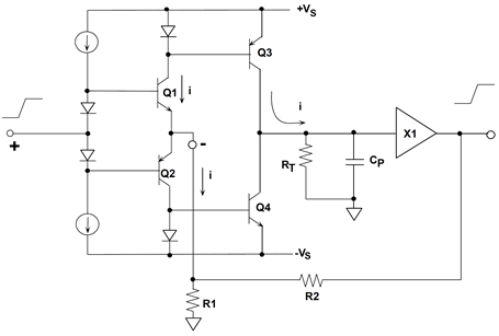 Simplified current feedback (CFB) op amp
