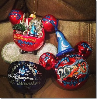runDisney Ornaments