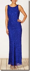 Beaded Cowl Back Maxi Dress