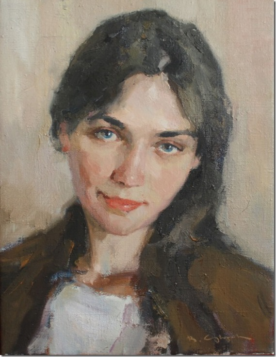 Portrait of Valeriaa-Vadim-Suvorov-ENKAUSTIKOS