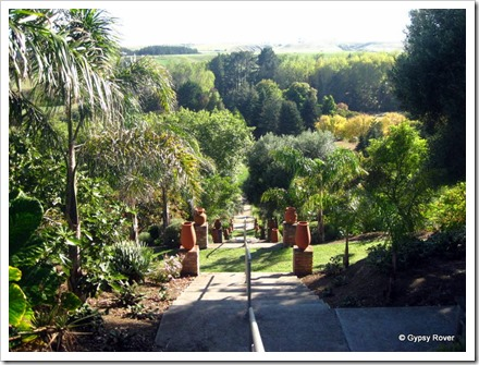 Looking down over the park in the Bason Botanical Gardens, Mowhanau.