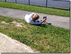 liggend op de grond