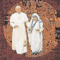 S.S Juan Pablo II y la Madre Teresa de Calcuta