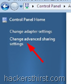 Change Advanced Sharing Settings