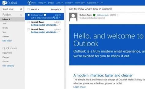 Hotmail se convierte en Outlook