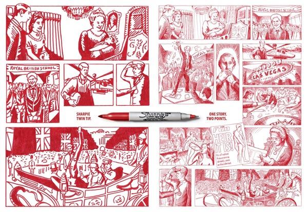 Sharpie Prince Vermelho 58x40