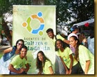 Coordenadora Mara Rute com agentes de cultura e cidadania Foto ASCOM FICC