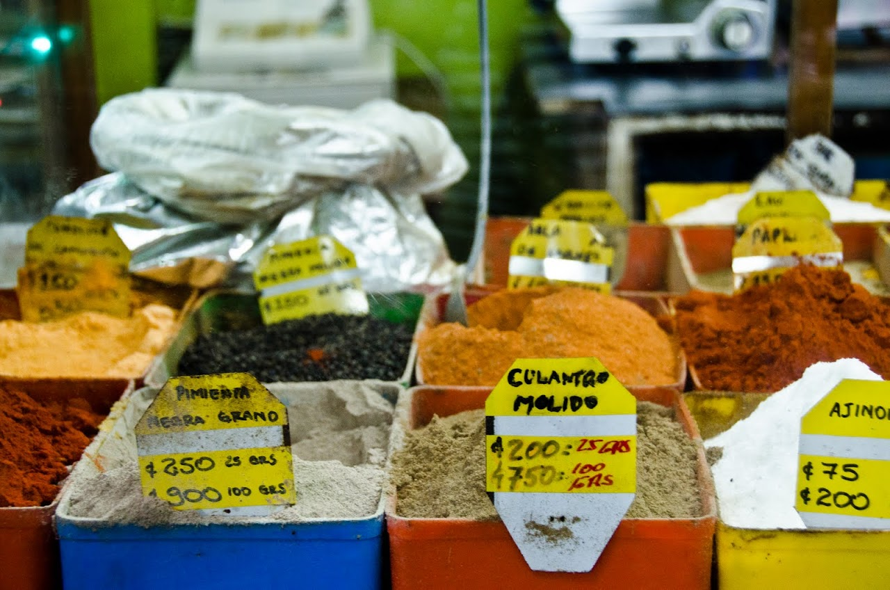 Spices at Mercado Central in Costa Rica