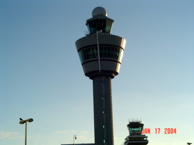 schiphol flight tower in Amsterdam, Noord Holland, Netherlands