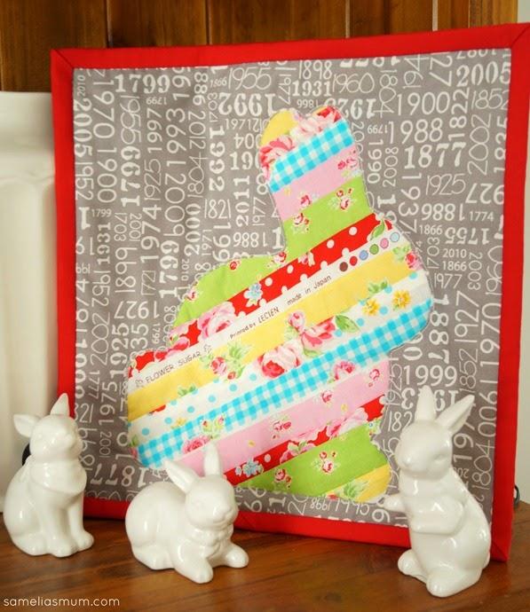 Scrappy Easter Bunny Mini Quilt @ Samelia's Mum