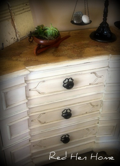 decoupaged chest of drawers