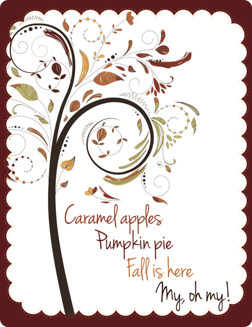 fall tree printable