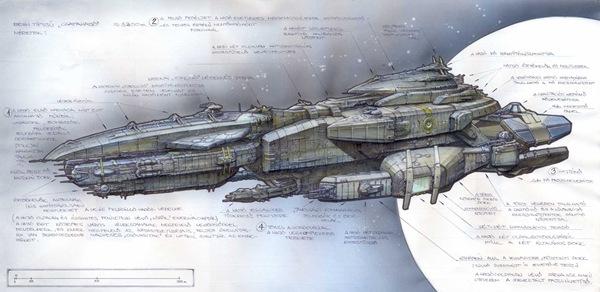 Nexus The Jupiter Incident Human BattleShip