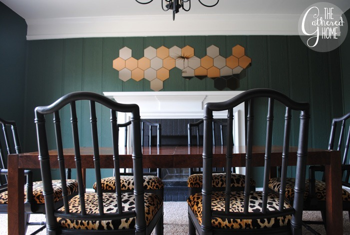 dining room updates black and leopard velvet chairs10