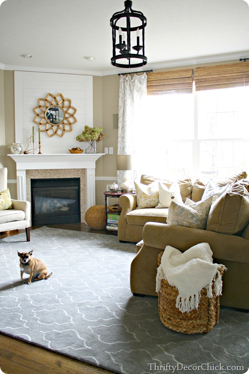 Light neutral decor, family room