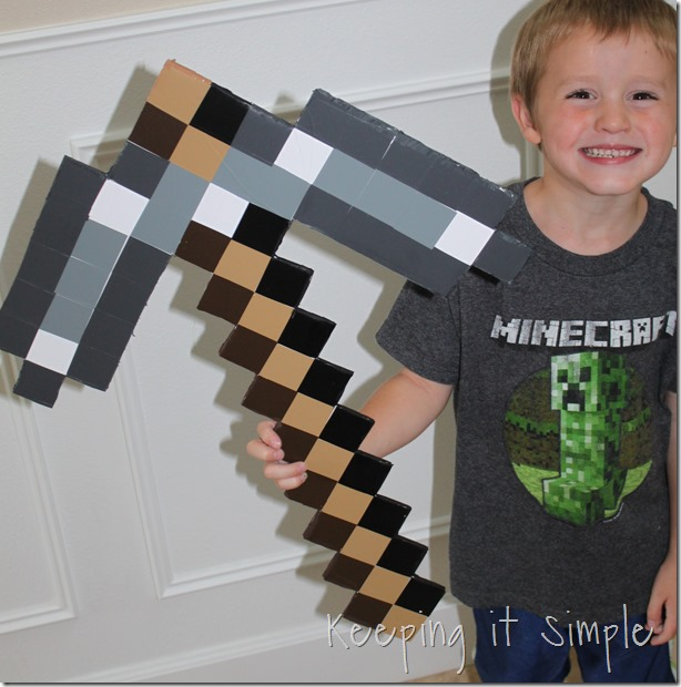 DIY-Foam-Minecraft-Pickaxe-and-Sword (9)