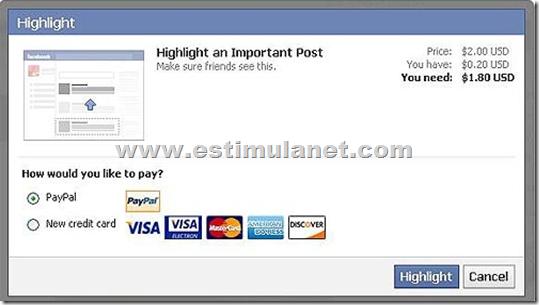Facebook será Pago