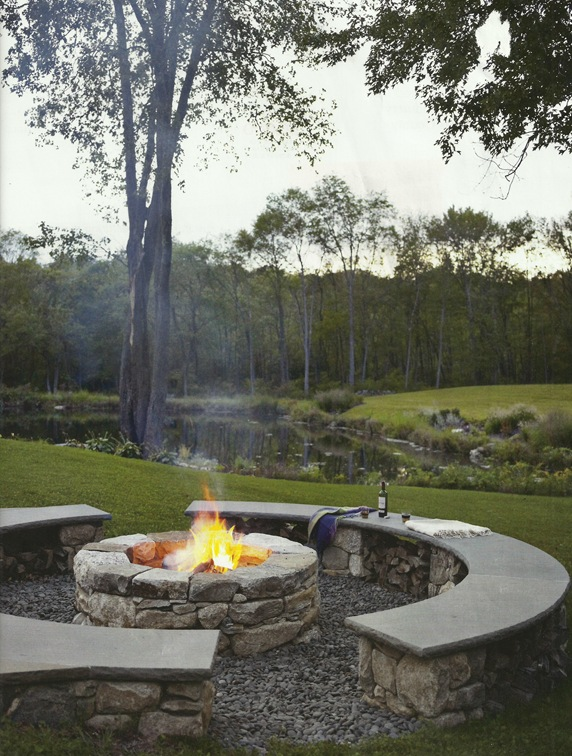 house beautiful fire pit