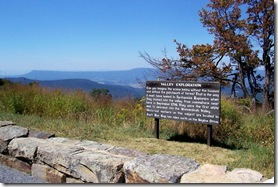 Valley Exploration marker at a Skyline Drive overlook