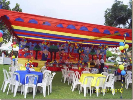 Decoracin de Jardines para Fiesta Infantil