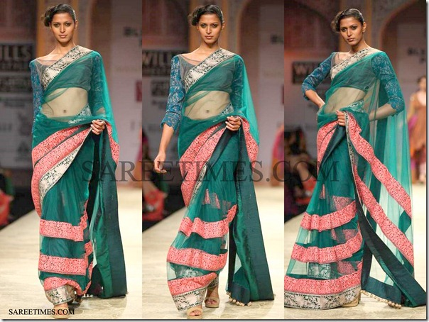 Manish_Malhotra_Green_Saree