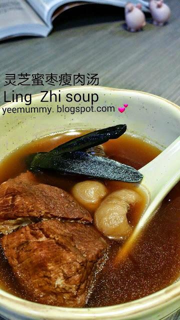 Ling Zhi Soup with Honey Date 灵芝蜜枣煲瘦肉汤