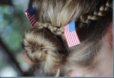 Olivia's hair with flags 7-4