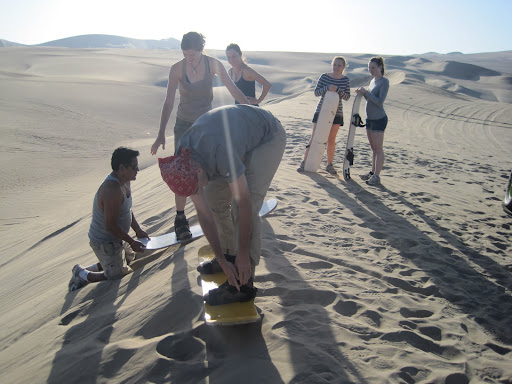 Erik getting ready to tackle the first practice dune