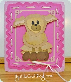 evelyn girl lamb card