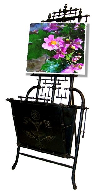 Lisa Porter, Original Photo, Waterlogue, Exceptional Victorian Easel, 1st Dibs