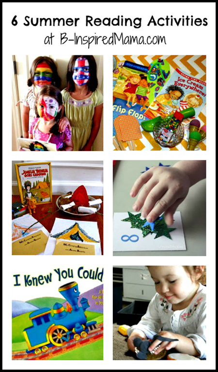 summer reading activities collage